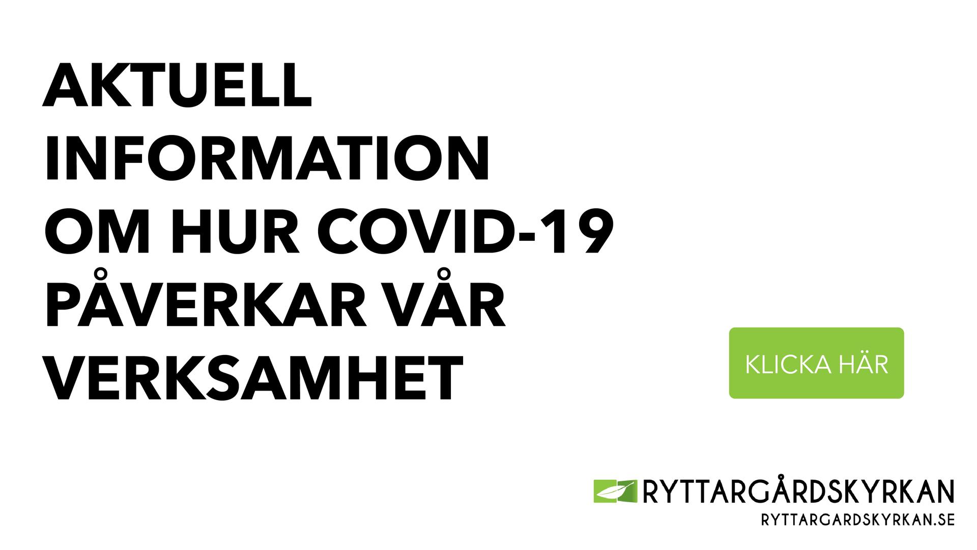 Information angående coronaviruset